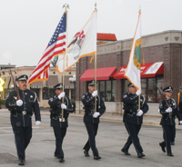 Honor Guard officers at a parade
